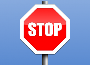"Traffic sign ""stop"" as a warning."