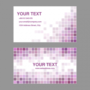 Two sides of business card mockup.