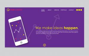 A design idea for a simple website.