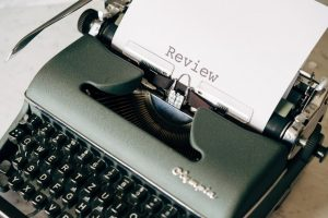 word review typed on a machine