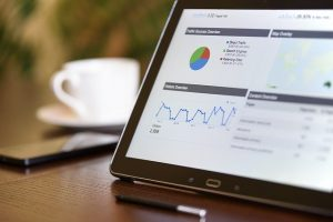 SEO rankings shown on a tablet to use for keyword optimization tips for SEO