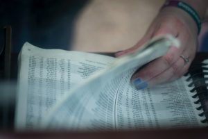 A woman going through the pages of a phonebook. In the olden days, there were not so many ideas on how to structure the citation for your business.