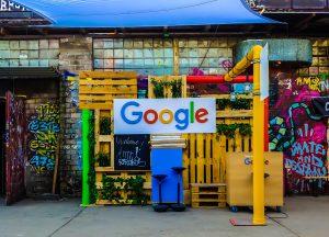 A Google street sign.