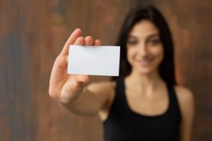 Increase your quality score in Google AdWords by using a business card.