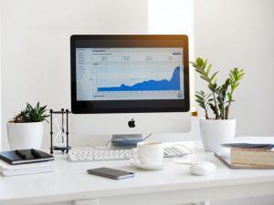 Google Analytics opened on a desktop computer.